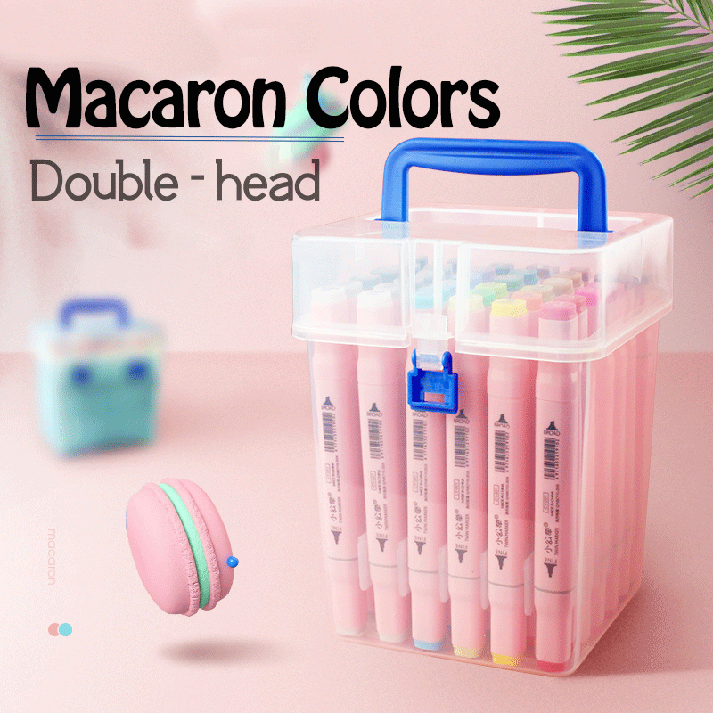 24/36/48 Colors Single Art Markers Brush Pen Sketch Alcohol Based Markers Dual Head Manga Drawing Pens Art Supplies