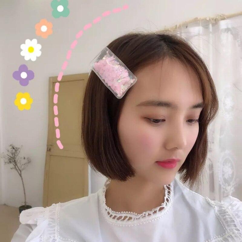 4 x Glittery Snowflake Love Heart Hair Clips Hair Grips Clips Slides
