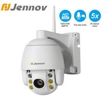 Jennov 5XZOOM PTZ IP Camera 1080P 2MP Two Way Audio Outdoor Video Surveillance Camera Wifi Home Security Wireless Wifi Cameras(China)