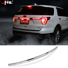 JHO Rear Tailgate LED Light Bar Strip with Turn Signal Lamp Brake Light For Ford Explorer 2016 2017 2018 2019 Car Accessories