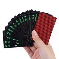 Cartas luminosas de póker que brillan en la oscuridad, nuevas tarjetas de fiesta de papel con multijugador luminoso