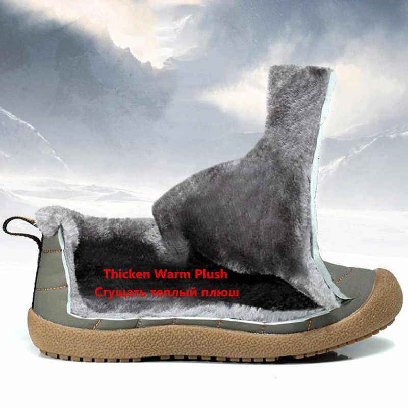 Nam Giày Chống Nước Mùa Đông Nam Size 38-46 Ấm Sang Trọng Ủng Chống Trơn Trượt Giày Đi Mưa mắt Cá Chân Giày Nam Boot