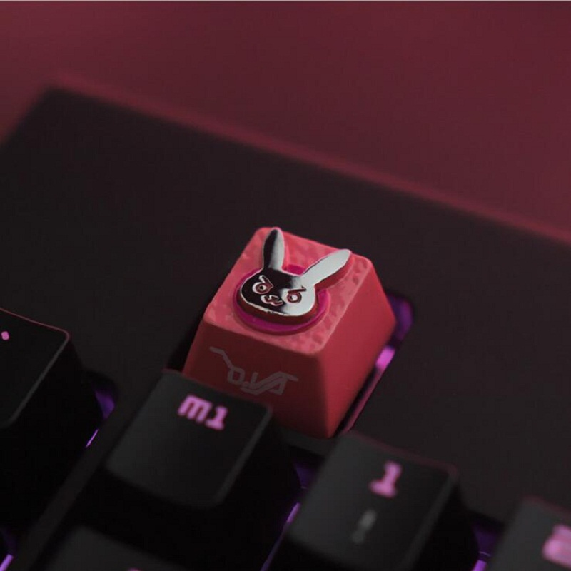 LOL/OW/DOTA  Theme Keycaps Hand-Engraved Aluminium Alloy Embossment  Backlit Key Caps For Mechanical MX Compatible Keyboards