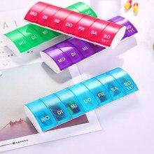 1pc portátil 7 dias semanais tablet pílula medicina caixa titular organizador de armazenamento recipiente caixa de comprimidos divisores