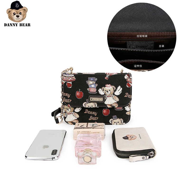 Danny Bear Vogue Tas Selempang Untuk Wanita Fashion Bahu Beruang Seires Dicetak Beruang Logo DMB9115070
