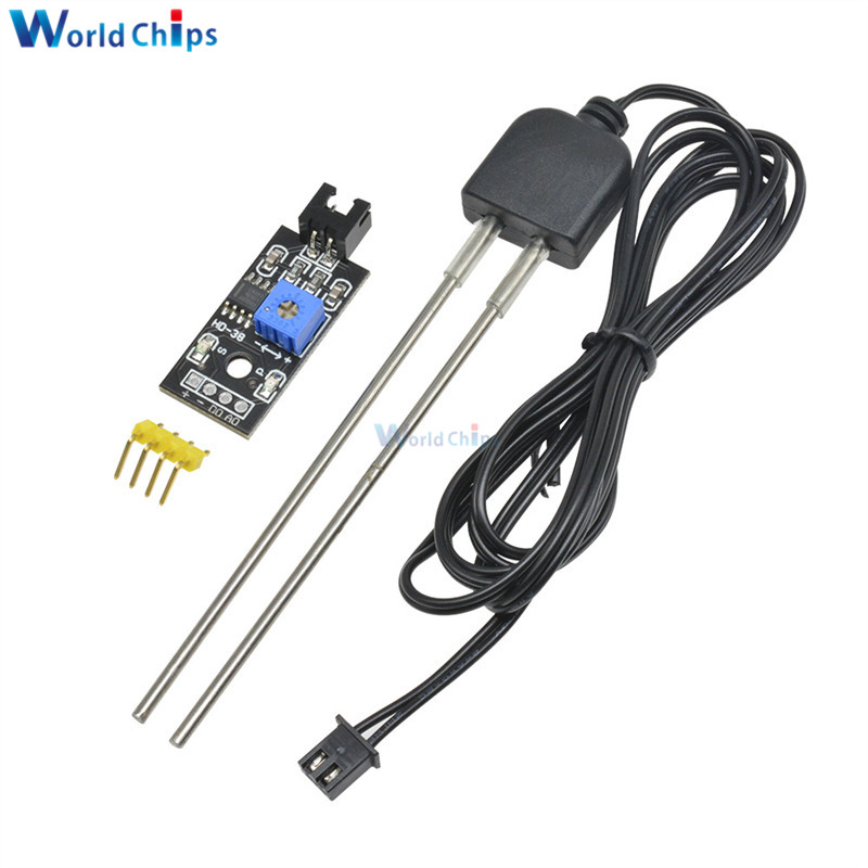 Soil Moisture Sensor and Soil Detector Module Soil Moisture Test Soil Humidity Test Corrosion Resistance Probe for Arduino