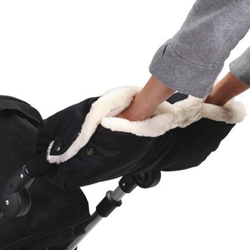 Baby Warm Stroller Gloves Winter Pushchair Hand Muff Waterproof Buggy Clutch Cart Thick Fleece Gloves Kid Pram Accessoriy Mitten