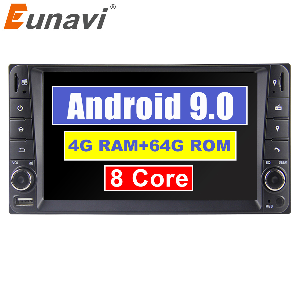 "Eunavi 2 din 7"" Octa core Android 9.0 Car multimedia GPS for Toyota Terios Old Corolla Camry Prado RAV4 radio stereo RDS wifi"