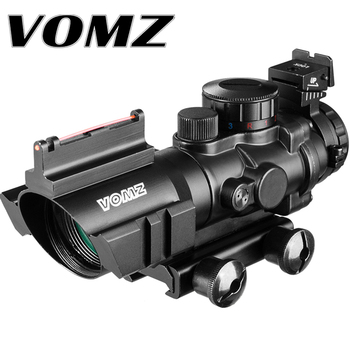 4x32 Acog Riflescope 20mm Dovetail Reflex Optics Scope Tactical Sight Hunting Gun Rifle Airsoft Sniper Magnifier Air Gun discovery hunting riflescope vt z 4x32 short economy air rifle riflescope with free scope mount