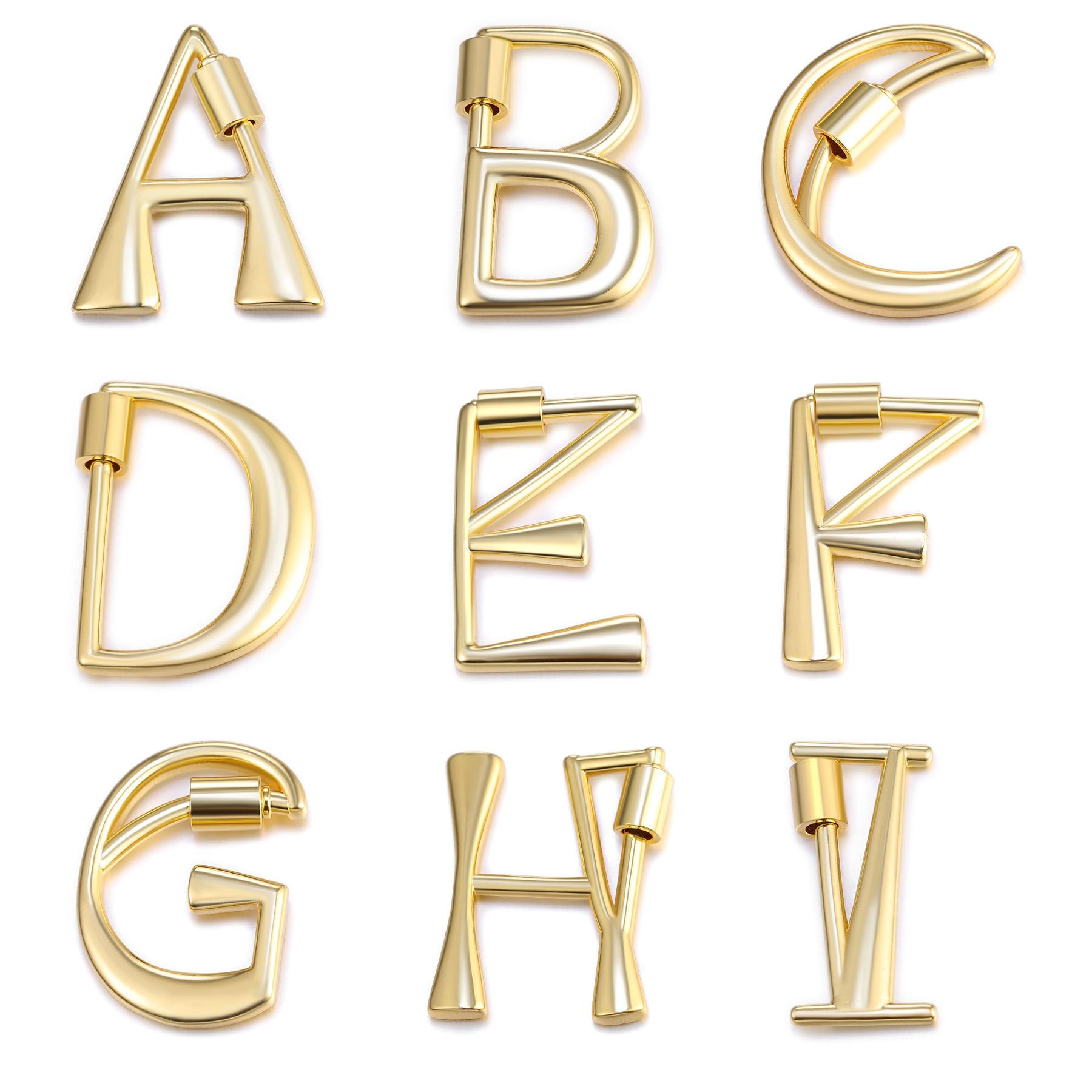 26-Letter Necklaces Alphabet Pendants Gold Color Copper Mini A-Z Letter Pendant Necklace Shinning 26 Initial Collares Jewelry