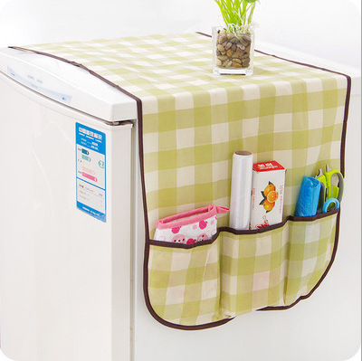 Geometric Washing Machine Cover Fridge Dust Cover Cotton Linen Refrigerator Organizer Dust Covers Home Cleaning