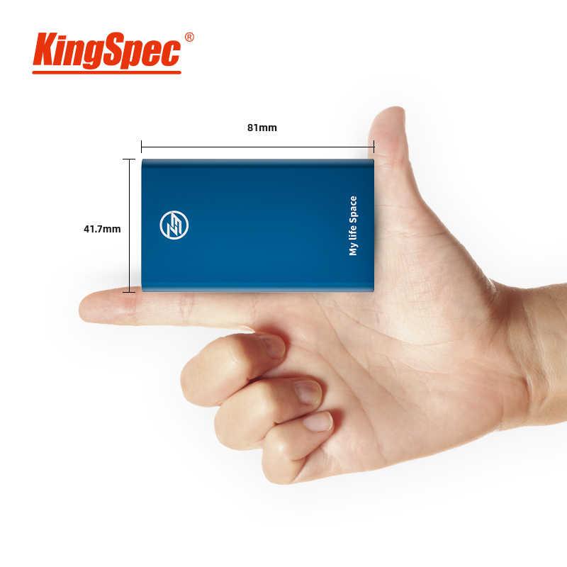 KingSpec SSD Portabel Eksternal Hard Drive 1TB 120GB 240GB 512GB Tipe-C USB 3.1 Eksternal SSD 1TB HDD untuk Laptop PC untuk Natal