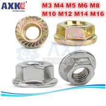 Axk M3 M4 M5 M6 M8 M10 M12 M14 M16 Galvanized Hexagon Flange Kacang Pink Slip Locking Lock Nut(China)