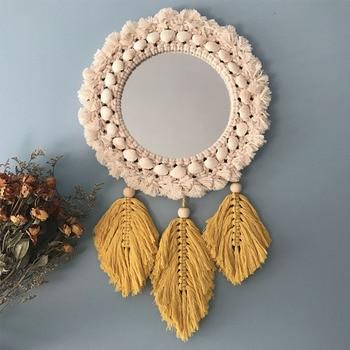 Macrame Art Mirror