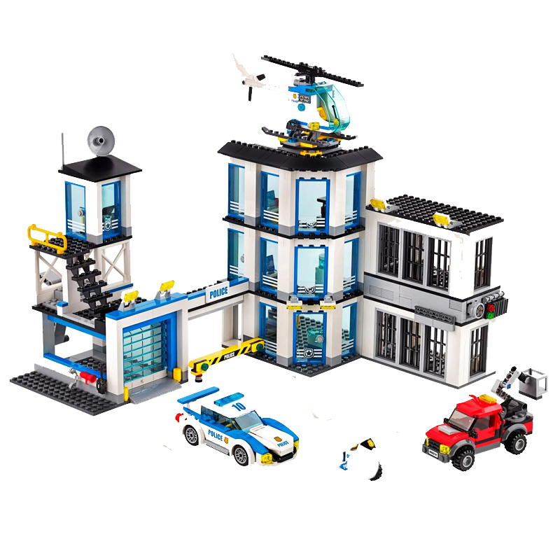 2020 New City Police Station Bela Compatible Lepining City 60141 60047 60140 Building Blocks Toys For Children Birthday Gift