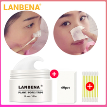 Lanbena Blackhead Remover Nose Mask Pore Strip Black Mask Peeling Acne Treatment Black Deep Cleansing Skin Care все цены