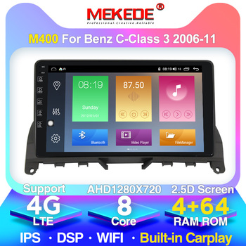 TOP! 4G LTE Android 10 4G Car Radio Multimedia Video Player Navigation GPS For Mercedes Benz C Class 3 W204 S204 2006 - 2011 image