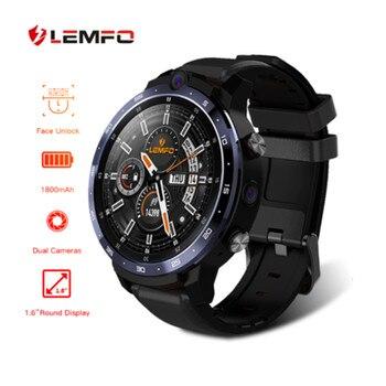 8 million high-pixel Smart Watch full Netcom LEMFO LEM12 Pro 1.6 Inch Dual Camera LTE 4G Men Smart Watch Android 10.0 4GB 64G 1