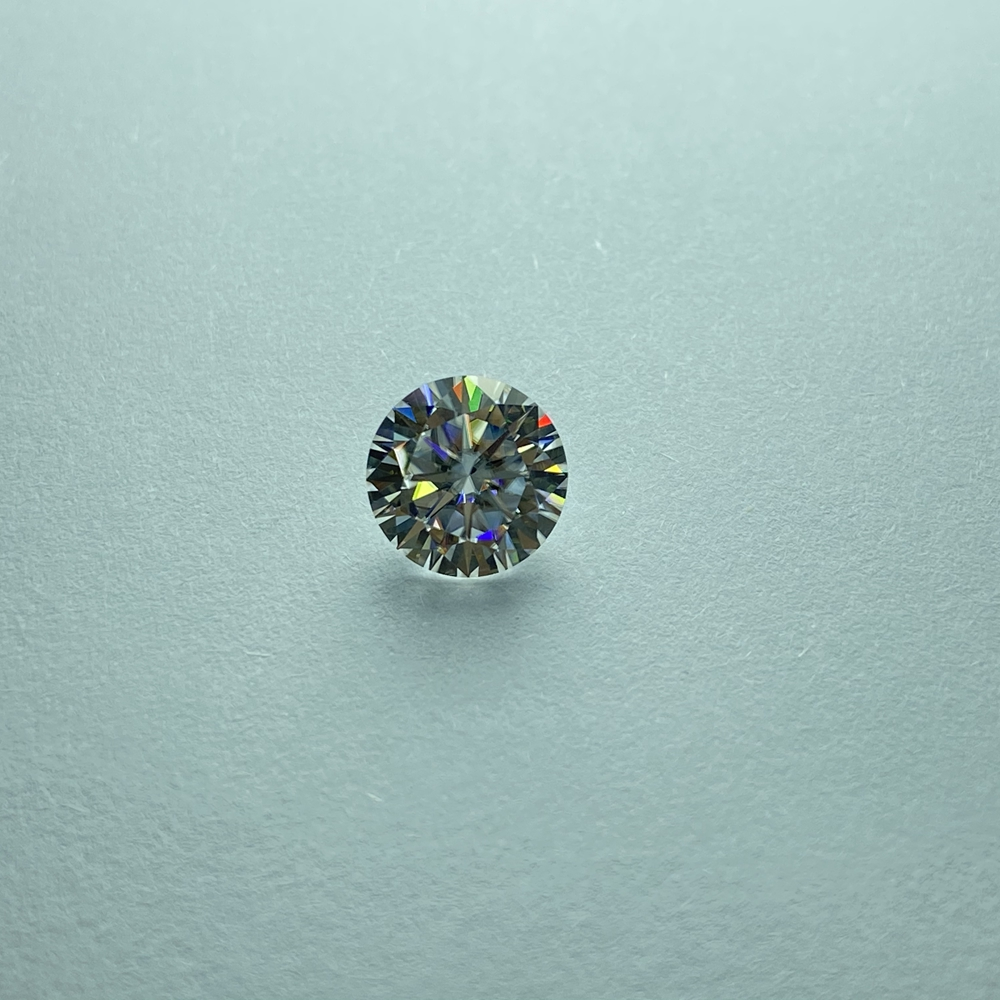 Laboratório diamante moissanite excelente 1.0ct quilate 6.5mm