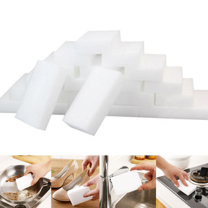 25pcs White Kitchen Sponge High Density Dish Washing Melamine Magic Cleaning Dishes Clean Melamine Sponge Eraser Pad 10*6*2 Cm