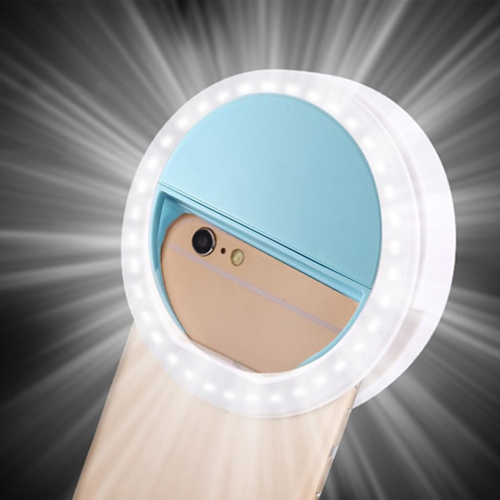Universele Selfie LED Flash Ring Licht Draagbare Selfie Lamp Mobiele Telefoon Lens Voor iPhone XS Max Xiaomi Samsung Lichtgevende Ring clip