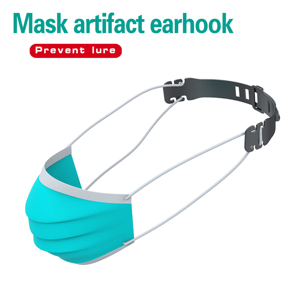 1/2/10x Adjustable Face Mask Ears Hooks Fixing Buckles Mask Ear Strap Extension Eco-friendly Soft Plastic Band Adjustable