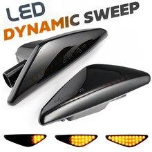 2 pçs fumaça dinâmica fluindo led lado marcador luz de sinal para bmw x5 e70 x6 e71 e72 x3 f25 sequencial blinker lâmpadas 63137171007/8
