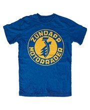 Zundapp – T-Shirt avec Logo k800 ks750, bleu, pour vélo en Tandem, culte, CS 50ks 80
