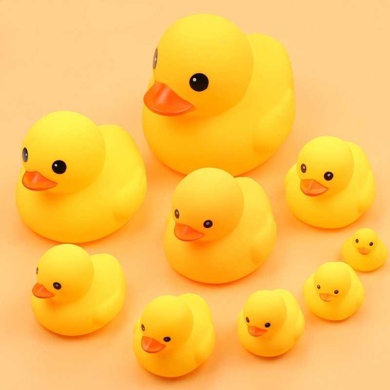 Brinquedo de banho para crianças Banho Do Bebê brinquedo Animal Engraçado Natação Pato De Borracha chamada Animal Kawaii Pato Amarelo Bonito Da Praia de Água patos brinquedos