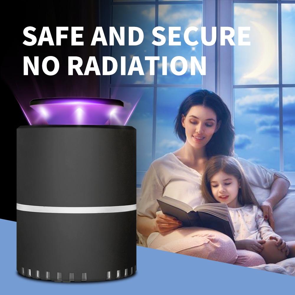 Электрическая USB-лампа против комаров, светодиодная лампа для отпугивания насекомых, УФ фотокатализатор насекомых, светильник пугиватель к...