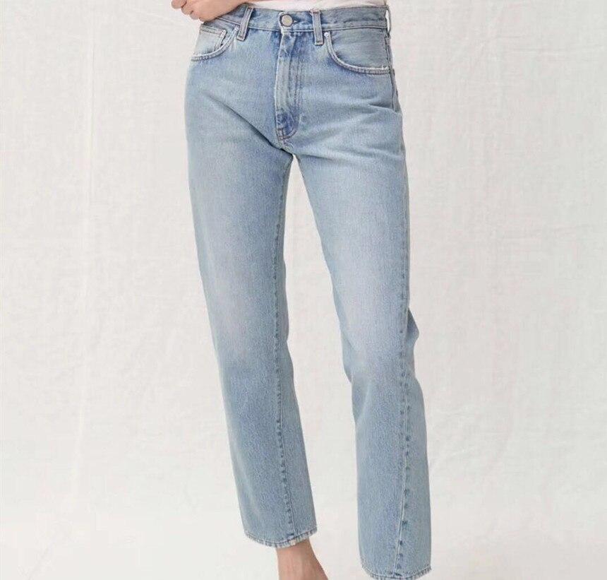 Women Pants 2019 New Asymmetric Oblique Seam High Waist Jean