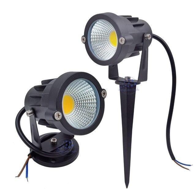 3W 5 W 10W 12W מיני LED דשא גן אור 12V 85 265V חיצוני IP65 עמיד למים ספייק נוף זרקור עבור חצר בית תאורה