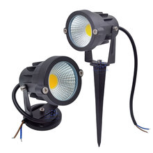 3W 5W 10W 12W  Mini Led Lawn Garden Light 12V 85 265V Outdoor IP65 Waterproof Spike Landscape Spot Light for Garden Lighting