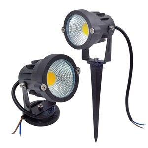 Image 1 - 3W 5W 10W 12W  Mini Led Lawn Garden Light 12V 85 265V Outdoor IP65 Waterproof Spike Landscape Spot Light for Garden Lighting