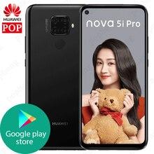 Huawei Nova 5i Pro da 6.26 pollici 8GB 128GB Kirin 810 Octa Core Per Smartphone 4000mAh GPU di Impronte Digitali 48MP google play 20W di Carica Super