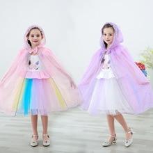 Children's Cape Clothing Snow Princess Elsa Princess Mantillas Ride Shawl Cloak