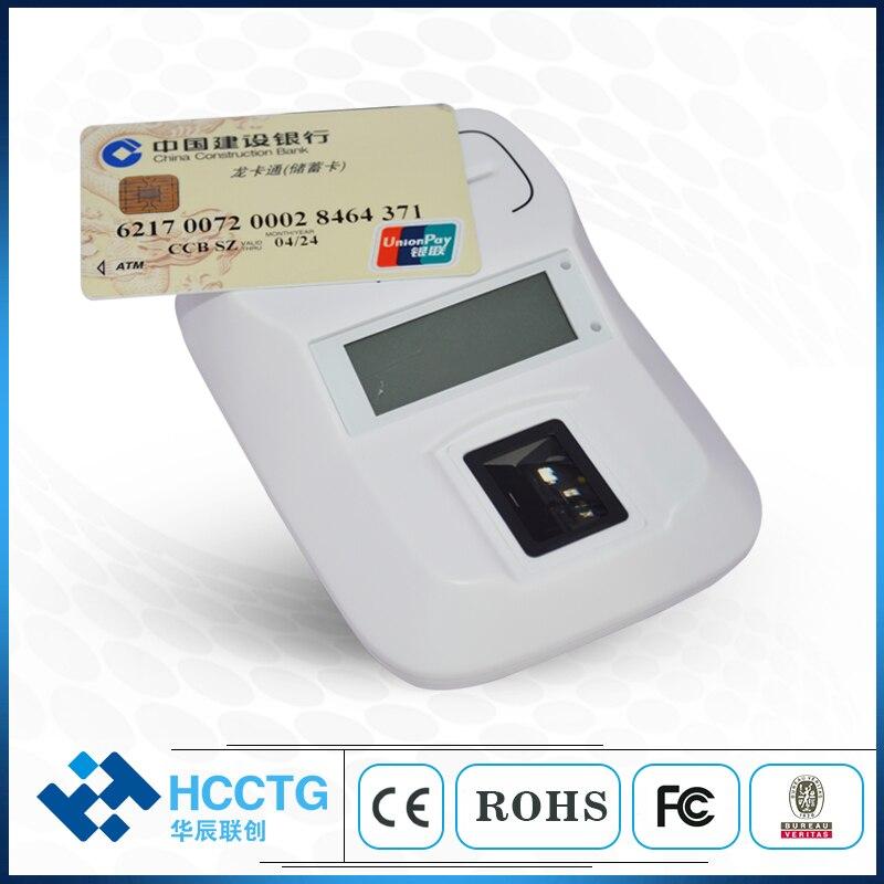 Contact/Contactless Chip Smart Card Reader Writer  Contact + Contactless + PSAM + LCDWith Usb Fingerprint Scanner HD8-FI