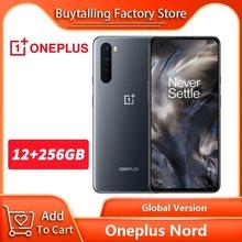 Globalna wersja OnePlus Nord 5G telefon komórkowy 6.44 cala 90Hz płyn AMOLED 12GB RAM 256GB Snapdragon 765G Octa Core 48MP Quad Camera