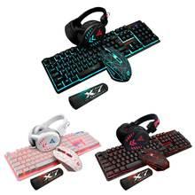 4 шт/компл k59 проводная usb клавиатура с подсветкой игровой