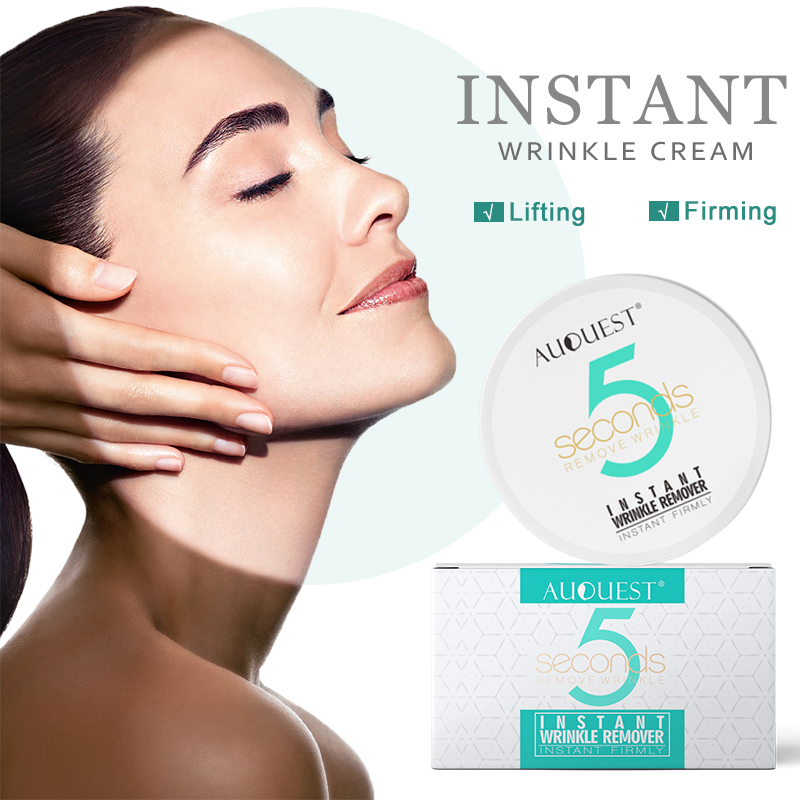 AuQuest 5 Seconds Wrinkle Remover Instant Firmly Anti Aging Moisturizing Remove Fineline Face Cream Beauty Skin Care 20G-0