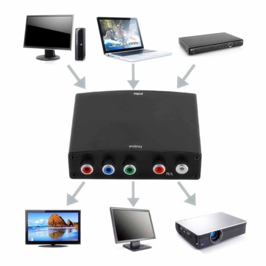 HDMI إلى 55RCA RGB مكون YPbPr فيديو R/L محول الصوت محول 2 قناة LPCM HD TV HD محول الفيديو