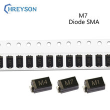50Pcs SMD Rectifier Diode M7F M7 M4 M2 M1 1A 50V 100V 200V 400V 600V 800V 1000V DO-214AC SMA Electronic Silicon Diodes