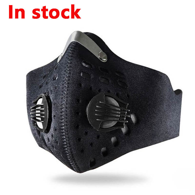 1Pcs Double Air Valve PM 2.5 Dust Mask Anti Dust Mask Anti-Bacterial Activated Carbon Filter Anti Pollution Mask Flu-proof Mask