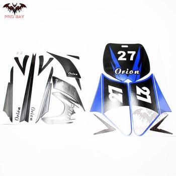 Nueva pegatina azul para motocicleta ATV Dirt Bike Off-road, Minimoto Pit Pocket Bike PRO BAT