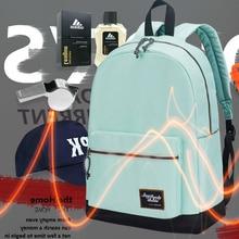 BAIDA Fashion Backpack for Women Leisure Trip Rucksacks Back Pack for Girls Teenager Contrast Color Laptop Bagpack School Bags