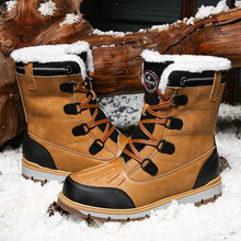 Men's Shoes Snow-Boots Casual High-Top Outdoor Winter Fashion New Warm Trend Cotton Nidengbao