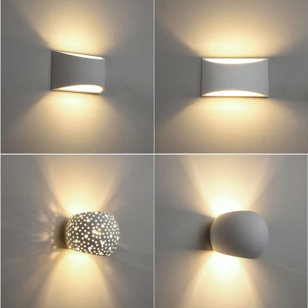 Hot Sale Plaster Wall Lamp Indoor Wall Sconce Modern Gypsum Wall Lights With 5w G9 Led Bulb Ac110v Ac220v Home Lighting Fixture Led Indoor Wall Lamps Aliexpress