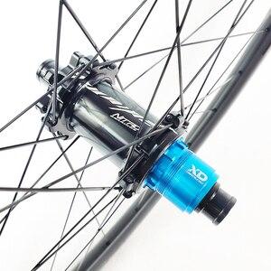 Image 5 - 1250g carbon BOOST tubeless wheels 29er MTB XC 30mm wide 25mm inner straight pull wheelset 110mm 148mm XD 11s micro spline 12s