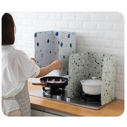 Kitchen Gas Stove Baffle Aluminum Foldable Plate Frying Pan Oil Splash Protection Screen Kitchen Accessories Specialty Tool