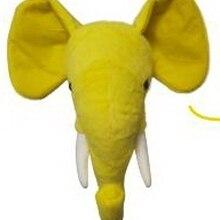 2021 Plush Elephant  wholesale ins style stuffed animal head wall decoration lifelike printed animal head for kids bedroom